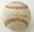 Autographs:Baseballs, 1966 New York Yankees Multi-Signed Baseball with Mantle and Maris.Six members of the 1966 New York Yankees appear on this ...
