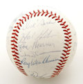 Autographs:Baseballs, 1968 St. Louis Cardinals Team Signed Baseball. With an amazingarray of Hall of Fame talent, the 1968 St. Louis Cardinals f...