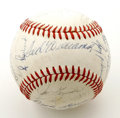 Autographs:Baseballs, 1970 Washington Senators Team Signed Baseball. In his second seasonat the helm as manager of the Washington Senators, the ...