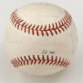 Autographs:Baseballs, 1972 Texas Rangers Team Signed Baseball. In their inaugural seasonin Texas after moving the franchise from Washington D.C....