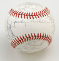 Autographs:Baseballs, 1984 Detroit Tigers World Champion Team Signed Baseball. When HOFmanager Sparky Anderson joined the Detroit Tigers in 1979...