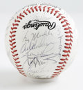 Autographs:Baseballs, 1988 NL All-Star Team Signed Baseball. Yet another low-scoringaffair, the '88 All-Star Game saw only three runs scored, up...