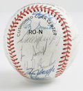 Autographs:Baseballs, 1987 NL All-Star Team Signed Baseball. With an amazing display ofpitching, the 1987 All-Star Game was a spectacle that wen...