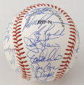 Autographs:Baseballs, 1990 New York Mets Team Signed Baseball. Offered here are 32stunning signatures on a clean ONL (White) baseball, all court...