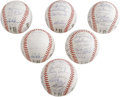 Autographs:Baseballs, 1990 San Francisco Giants Team Signed Baseballs Lot of 6. HOFcatcher Gary Carter reigns supreme on half a dozen ONL (White...(Total: 6 Items)