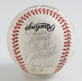 Autographs:Baseballs, 1997 Florida Marlins World Champion Team Signed Baseball. In onlyits fifth year of existence, the Florida Marlins did the ...