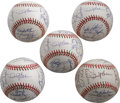Autographs:Baseballs, 1997 San Francisco Giants Team Signed Baseball Lot of 5. Flawless,top to bottom, in every way. These five ONL (Coleman) ba... (Total:5 Items)