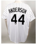 Autographs:Jerseys, Brian Anderson Signed Jersey. Chicago White Sox newcomer Brian Anderson has done well in centerfield since making his Major...