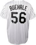 Autographs:Jerseys, Mark Buehrle Signed Jersey. Brand new Majestic Chicago White Soxhome pinstripe jersey offered here has been affixed with r...