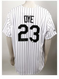 Autographs:Jerseys, Jermaine Dye Signed Jersey. In last year's World Series sweep ofthe Houston Astros, the Chicago White Sox relied heavily o...