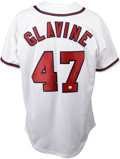 Autographs:Jerseys, Tom Glavine Signed Jersey. Brand new Majestic Atlanta Braves homewhite jersey is offered here, signed on the rear numeral ...