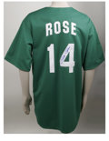 Autographs:Jerseys, Pete Rose Signed St. Patrick's Day Philadelphia Phillies Jersey.This fabulous Cooperstown Collection Majestic green Philad...