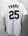 Autographs:Jerseys, Jim Thome Signed Jersey. Though they already seemed one of the most complete teams in baseball after their World Series win...