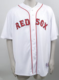 Autographs:Jerseys, Tim Wakefield Signed Jersey. White home Boston Red Sox replicajersey of the knuckleballer Tim Wakefield is made available ...