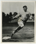 """Autographs:Photos, Ty Cobb Signed Photograph. Marvelous 8x10"""" image of the GeorgiaPeach rounding third has a gracefully penned inscription wr..."""