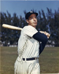 Autographs:Photos, Joe DiMaggio Signed Photograph. The legendary Joe Dimaggio has been visually captured here as he follows through with his w...