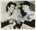 """Autographs:Photos, Mickey Mantle Signed Photograph. A young Mickey Mantle is shownhere as the subject of this great 8x10"""" black and white pri..."""