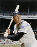 Autographs:Photos, Mickey Mantle Signed Oversized Photograph. Beautiful colorphotographic depiction is made available here of one of the most...