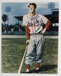 """Autographs:Photos, Stan Musial Signed Oversized Photograph. Fantastic 16x20"""" fullcolor image has captured Stan the Man Musial posed in his Ca..."""