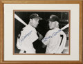 Autographs:Photos, Joe DiMaggio and Mickey Mantle Dual-Signed Photograph. Here weoffer a classic image of two of the most revered men to ever...