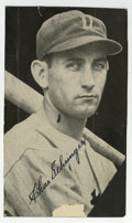 """Autographs:Photos, Ty Cobb and Chas Gehringer Signed Photographs. Two vintage HOFersare the subjects of the current offering. A 4 x 6.5"""" pho..."""