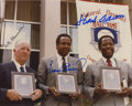 Autographs:Photos, 1982 Baseball Hall of Fame Induction Class Multi-Signed Photograph.Here the members of Cooperstown's induction class of 19...