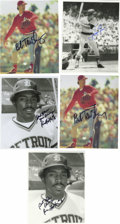 "Autographs:Photos, Signed 8x10"" Baseball Photographs Lot of 88. Eclectic lot of signed 8x10"" photos, mostly black and white. Highlights incl..."