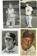 Autographs:Photos, Massive Collection of Signed Photographs and Postcards Lot of Over 175. Highlights include: Graig Nettles, Mark Fidrych, Ed...