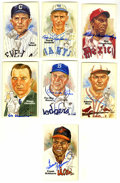 Autographs:Post Cards, Hall of Famers Signed Perez-Steele Postcards Lot of 7. Theimpressive postcards produced by the Perez-Steele Galleries have...