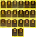 Autographs:Post Cards, Signed Hall of Fame Plaques Lot of 19. These gold Hall of Fame postcards from 19 of baseball's esteemed enshrinees have eac...