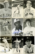 Autographs:Post Cards, Massive Collection of Signed Postcards, Lot of Over 150. Hugegrouping of signed photographic postcards is offered here. Hi...