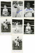 Autographs:Post Cards, Massive Collection of Signed Postcards Lot of Over 120. Here weoffer a large collection of black and white photographic po...