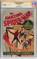Silver Age (1956-1969):Superhero, The Amazing Spider-Man #1 Golden Record Reprint Signed by Stan Lee(Marvel, 1966) CGC Signature Series FN/VF 7.0 White pages....