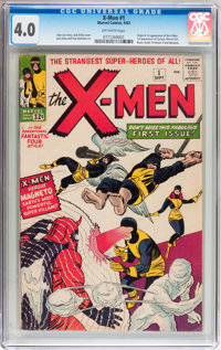 X-Men #1 (Marvel, 1963) CGC VG 4.0 Off-white pages