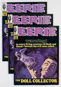 Eerie #15 Group (Warren, 1968) Condition: Average NM.... (Total: 3 Comic Books)