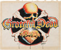 Music Memorabilia:Original Art, Rick Griffin Grateful Dead Reckoning Album Preliminary Artand Printed Poster (Arista, 1981).... (Total: 2 Items)