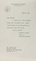 Autographs:Authors, Archibald MacLeish, American Writer and Poet. Typed Letter Signed. Very good....