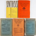 Books:Periodicals, [Literary Magazines]. Group of Five Issues. Various publishers,1910-1956. Fair or better condition.... (Total: 5 Items)
