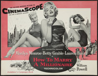 """How to Marry a Millionaire (20th Century Fox, 1953). Uncut Pressbook (28 Pages, 14"""" X 18""""). Comedy"""