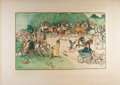 Books:Prints & Leaves, Cecil Aldin. SIGNED. Color Lithograph, Signed by Aldin In LowerMargin. Lawrence & Bullen, 1902. Approx. 17 x 25 inches. Aff...