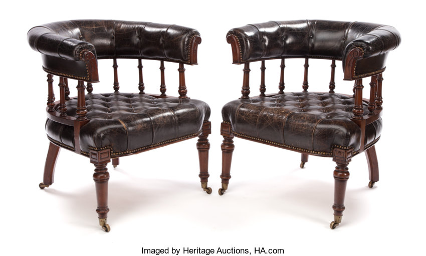 Fabulous Pair Of Mahogany And Leather Club Chairs England Circa Pdpeps Interior Chair Design Pdpepsorg