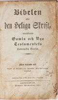 Books:Religion & Theology, [Bible in Dutch]. Bibelen, eller Den Hellige Skrift. Kumstedt, 1842. Contemporary leather with rubbing and scuffing....