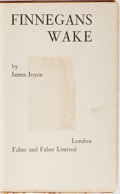 Books:Literature 1900-up, James Joyce. Finnegans Wake. Faber and Faber, 1939. Firstedition, first printing. Minor rubbing and light soil to c...