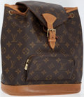 Luxury Accessories:Accessories, Louis Vuitton Classic Monogram Canvas Montsouris MM Backpack. ...