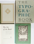 Books:Books about Books, [Books About Books]. Group of Four Books Related to Book Arts.Various publishers. The Art of the Book is lacking dj. Ve...(Total: 4 Items)