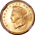 Proof Gold Dollars, 1860 G$1 PR66 Ultra Cameo NGC....