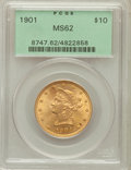 Liberty Eagles: , 1901 $10 MS62 PCGS. PCGS Population (5355/5892). NGC Census:(8230/9464). Mintage: 1,718,825. Numismedia Wsl. Price for pro...