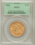 Liberty Eagles: , 1893 $10 MS62 PCGS. PCGS Population (6973/2394). NGC Census:(12421/6972). Mintage: 1,840,895. Numismedia Wsl. Price for pr...