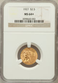 Indian Quarter Eagles, 1927 $2 1/2 MS64+ NGC....