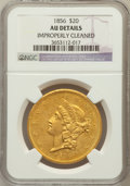 Liberty Double Eagles: , 1856 $20 -- Improperly Cleaned -- NGC Details. AU. NGC Census:(50/169). PCGS Population (23/72). Mintage: 329,878. Numisme...
